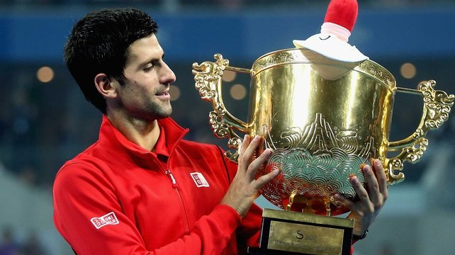 The win was Djokovic's fourth in the China Open