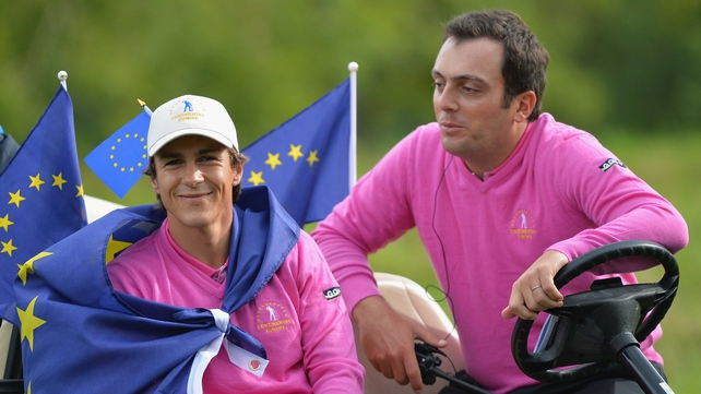 Europe's Thorbjorn Olesen and Francesco Molinari