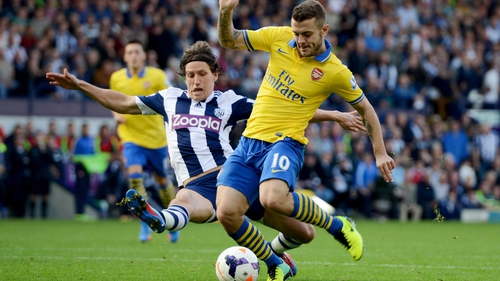 Jack Wilshere levelled the game for the Gunners