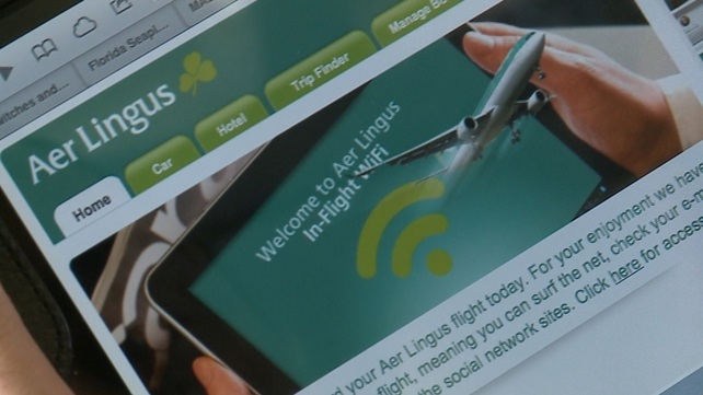 Aer Lingus will be the second European airline to introduce wireless internet access on flights to the US