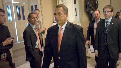 "John Boehner said: ""The nation's credit is at risk because of the administration's refusal to sit down and have a conversation"""