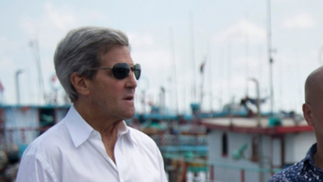 John Kerry warned that terrorists 'can run, but they can't hide' from US efforts