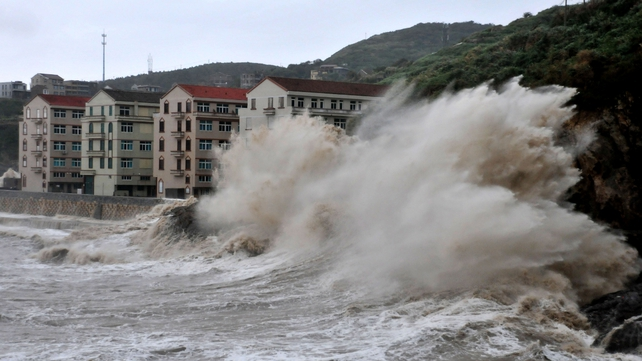 Typhoon Fitow has brought rainstorms to many areas in Fujian and Zhejiang Province