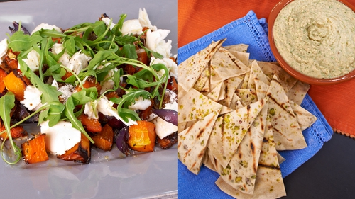 Rachel Allen's Roasted Butternut Squash Salad with Flatbreads