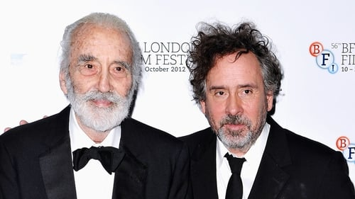 Christopher Lee with Tim Burton