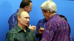 Vladimir Putin and John Kerry met at the Asia-Pacific Economic Co-operation trade summit in Bali