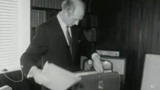 Jack Lynch preparing to deliver the budget speech 1970.