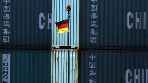 Germany's seasonally-adjusted trade surplus narrows to €17.2 billion from a revised €18.3 billion in December