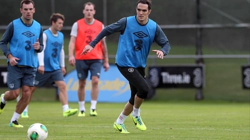 Joey O'Brien tweaked his hamstring in the warm-up for the Latvia game