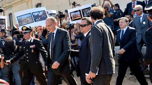 José Manuel Barroso and Enrico Letta were heckled by crowds
