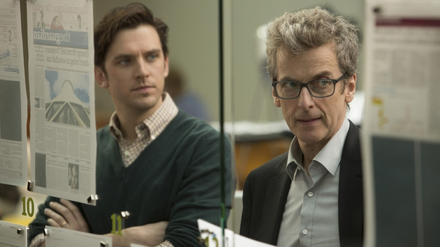 Dan Stevens and Peter Capaldi - old media meets new
