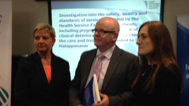 Tracey Cooper, Phelim Quinn and Nuala Lucas presented the HIQA report this afternoon