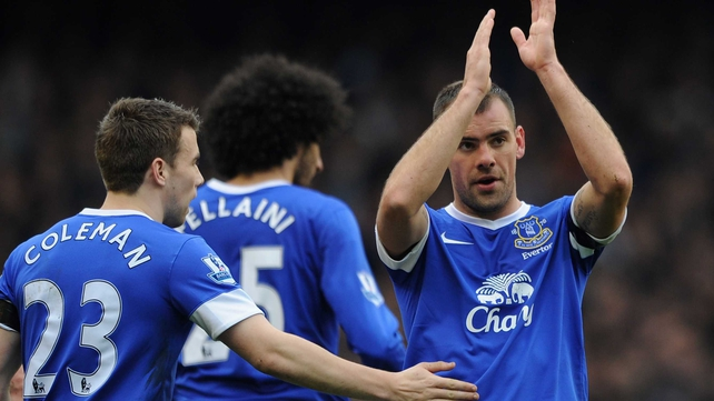 Everton's Seamus Coleman and Darron Gibson are among a decreasing number of Irish players playing regularly in the EPL