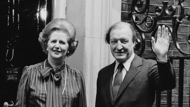 Charles Haughey pictured with British Prime Minister Magaret Thatcher in 1980