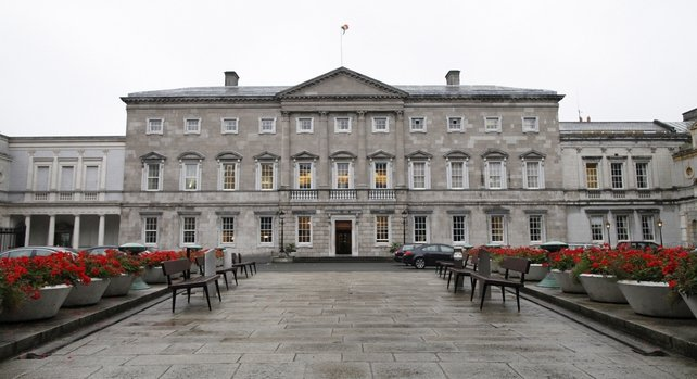 The man was arrested at the front of Leinster House