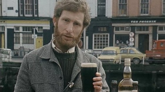 RTÉ News reporter, Brendan O'Brien, speaking about the price of alcohol following the announcement of budget 1980.