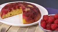 Raspberry Upside-down Cake   - A delicious pudding best served with whipped cream