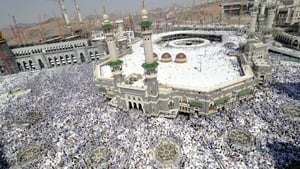 Muslim pilgrims perform the Friday prayer at Mecca's Grand Mosque as hundreds of thousands of Muslims pour into the holy city for the hajj pilgrimage