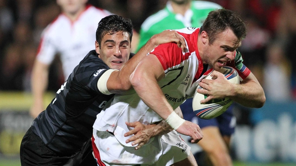 Tommy Bowe grabbed a first-half try for Ulster
