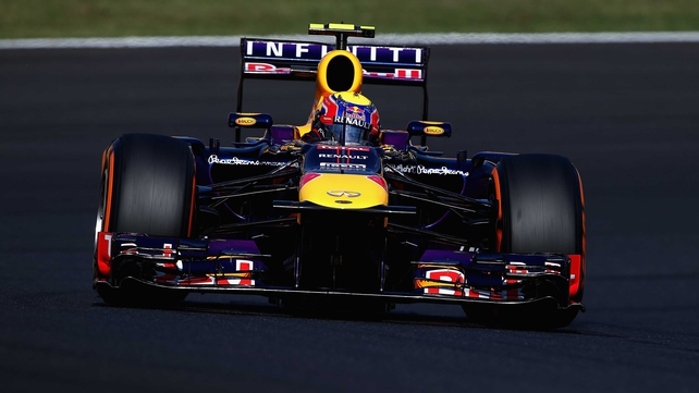 Webber lapped the Suzuka circuit with a best time of one minute 30.915 seconds