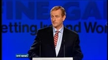 Taoiseach tells Fine Gael conference Ireland to exit bailout on 15 December