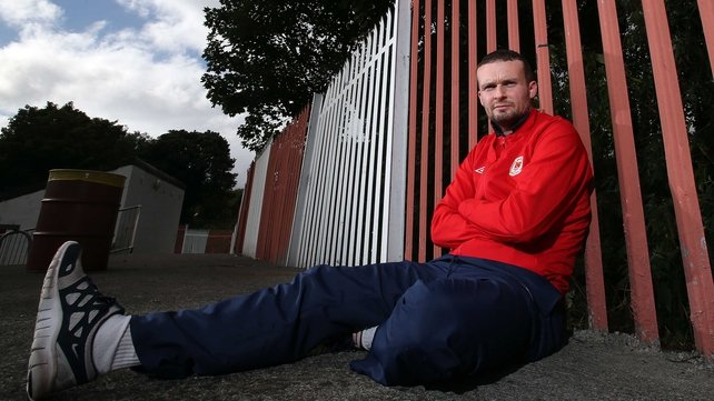 Conan Byrne will hope that St Patrick's Athletic are celebrating a title victory this evening