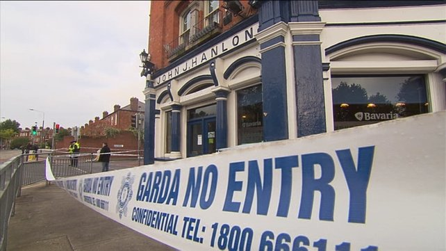 Scene of shooting outside north city Dublin pub where four people were hit by gunman