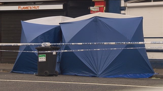 Area sealed off for detailed forensic investigation by gardaí