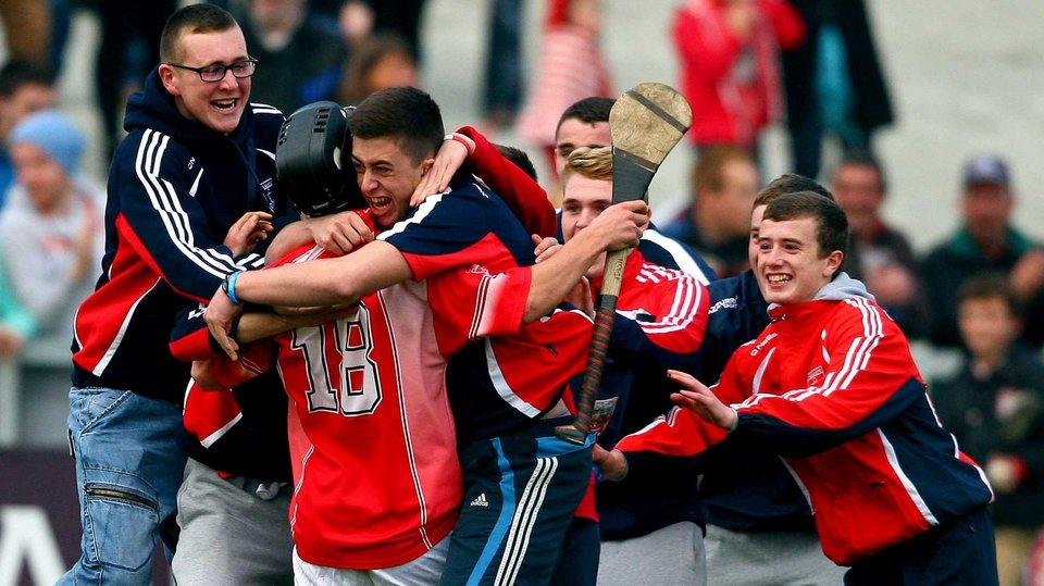 A Passage to success - Sean Hogan of Passage is mobbed by supporters at the final whistle as the club win their Waterford senior hurling title