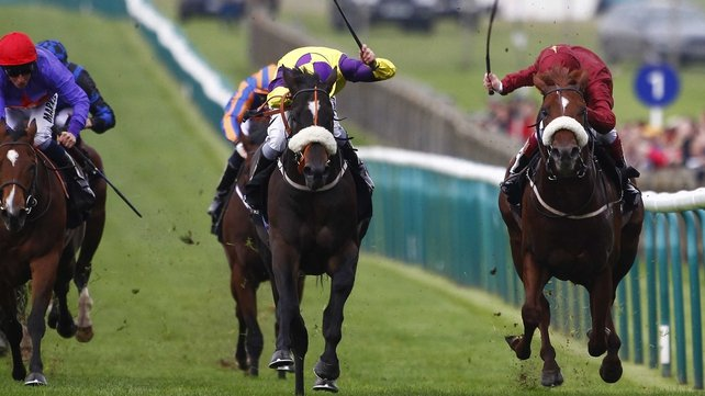 Kevin Ryan's representatives Astaire and Hot Streak fought out a thrilling to the Middle Park