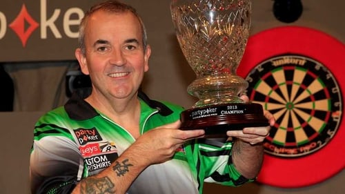 Phil Taylor with his trophy at Citywest