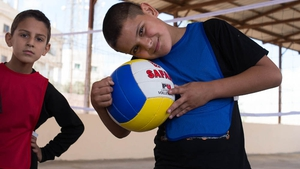 Boys at play in Irbid city