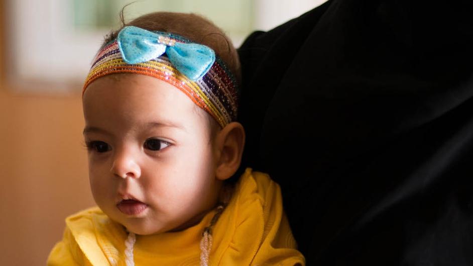 Four-month-old Leen at Zaatari