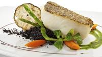 Seabass & curried butternut squash - Pan Fried Fillets of Seabass, Curried Butternut Squash with a Leek and Mushroom Fondue