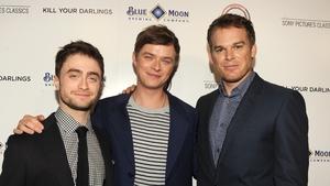 Actors Daniel Radcliffe, Dane DeHaan, Michael C Hall at the premiere of Kill Your Darlings in Beverley Hills on October 3, 2013