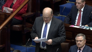 Finance Minister Michael Noonan gives his Budget speech