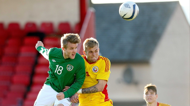 Will Hayhurst spurned Ireland's last chance to equalise at the Showgrounds as his headed effort sailed wide