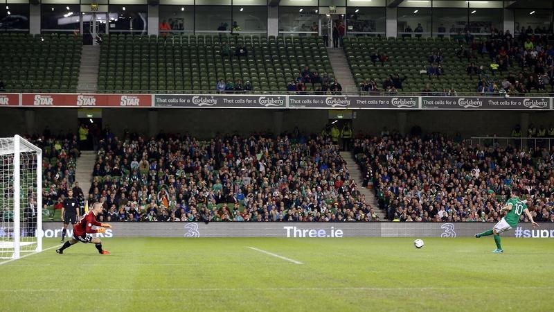 Robbie Keane scores his 61st Ireland goal