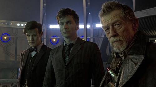 Matt Smith, David Tennant and John Hurt will play the Time Lord in the anniversary special