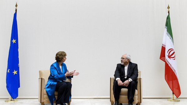 European Union Foreign Policy Chief Catherine Ashton and Iranian Foreign Minister Javad Zarif attended the talks