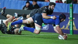 Touchdown - Leinster's Sean O'Brien scores a try against the Ospreys in the Heineken Cup