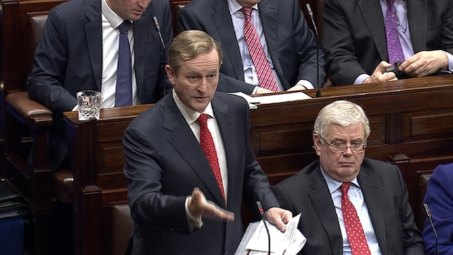 Enda Kenny dismissed criticism from Sinn Féin and Fianna Fáil