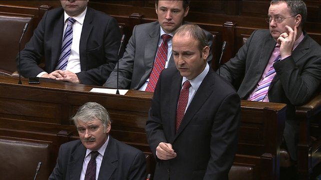 Micheál Martin accused the Government of a 'big lie'