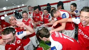 Party time in Inchicore - St Pat's Athletic players celebrate winning their first Premier Division title since 1999