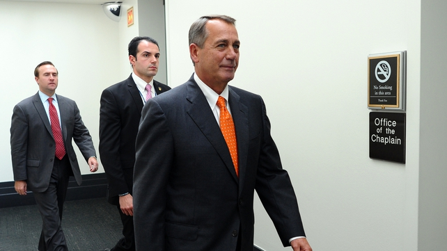 John Boehner will not stand in the way of the new deal but vowed to continue to oppose 'Obamacare'