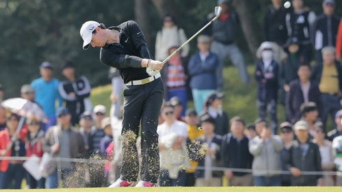 Rory McIlroy in action during the first round of the Korea Open