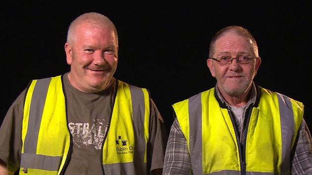 Nighshift workers Eddie and Frankie