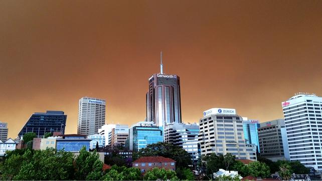 Sydney's skies were full of smoke