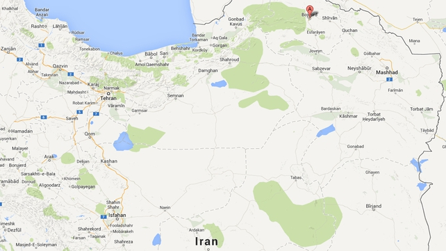 The hanging took place in Bojnourd prison in northeast Iran (Pic: Google Maps)