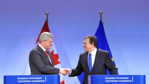 Canadian Prime Minister Stephen Harper and European Commission President José Manuel Barroso agreed the deal in Brussels